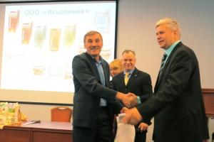 Генеральный директор компании Исцеление  Денисов Н.В. поздравляет Клуб МИРСПА с 10-ти летним юбилеем
