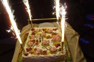 Торт на вечере в честь Десятилетия МИРСПА в ресторане Невский, г. СПб.