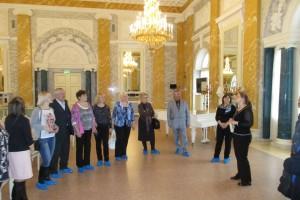 Экскурсия по дворцу, в большом конференцзале