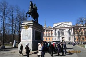 Памятник Петру-1 у Инженерного замка