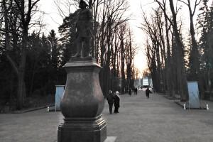 Памятник Петру-I в парке Петергофского музея-заповедника